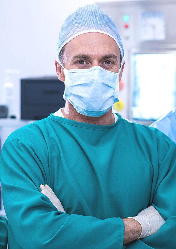 Kirurg med maske